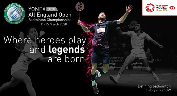 Image for YONEX ALL ENGLAND OPEN BADMINTON CHAMPIONSHIPS 2020
