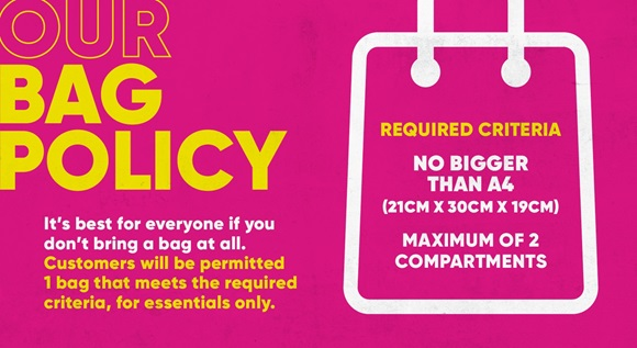 Image for OUR BAG POLICY